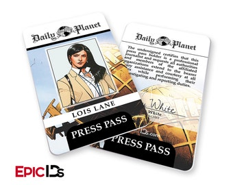 image about Clark Kent Press Pass Printable named Lois lane Etsy