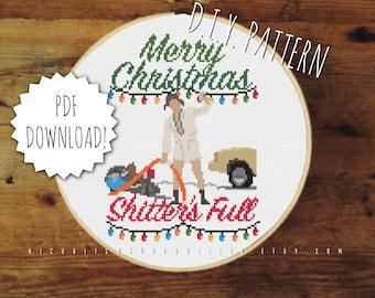 DIY Holiday Vacation | Sh*tters Full cross stitch PATTERN | Counted cross stitch pattern | Christmas embroidery pattern