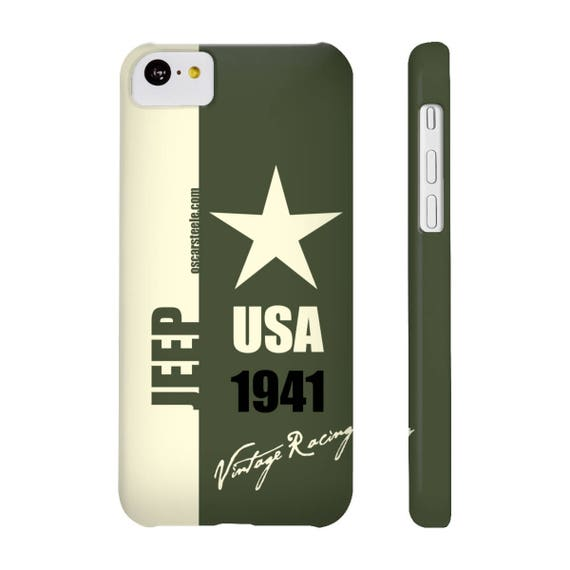 new concept c5d3d ac4fb Jeep Phone Case Green Vintage Racing Series Slim Phone Cases iPhone X  iPhone 8 iPhone 8 Plus IPhone 7 iPhone 7 Plus