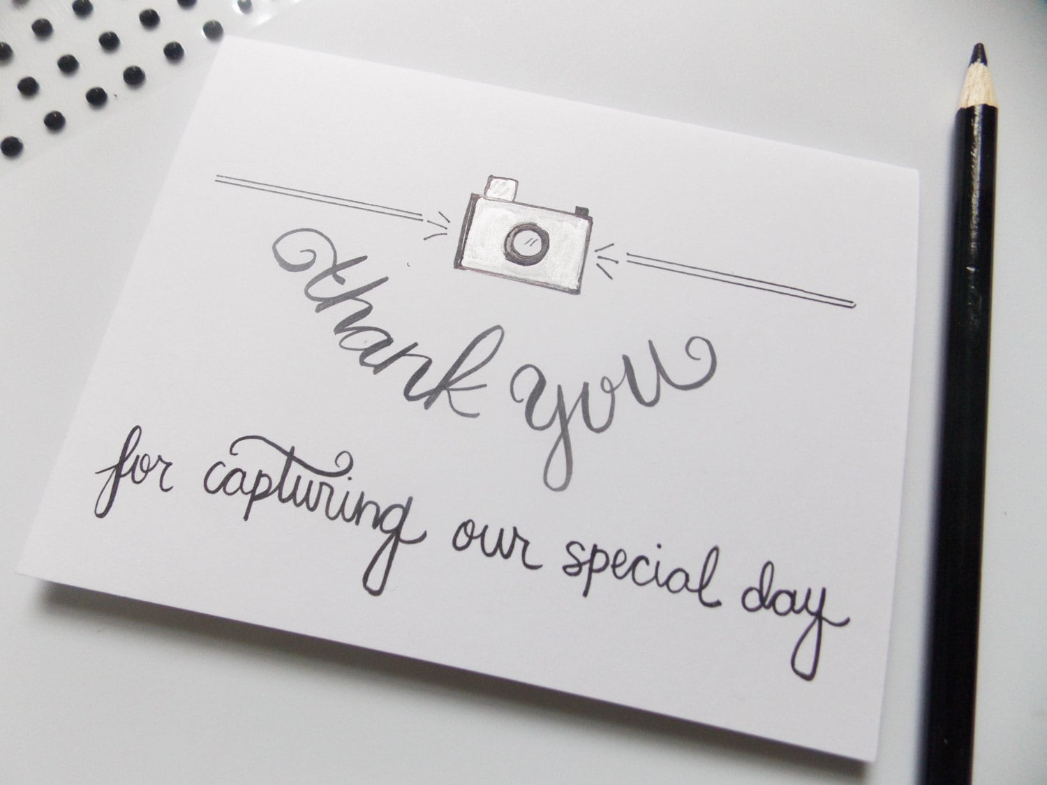 thank you for being our photographer card thank you for  etsy