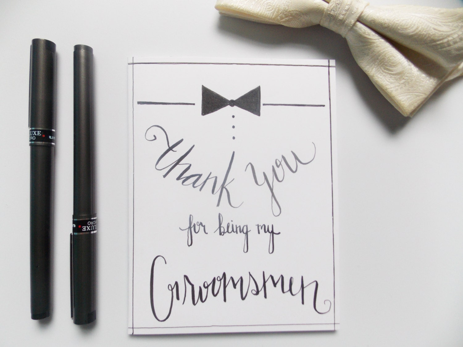 groomsman gift thank you for being my groomsman card thank