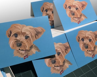 The Yorkie, Set of 10 notecards