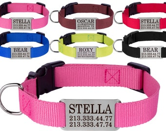Pet Collar, Dog Collars, Dog Collar Personalized, Puppy Collar, Engraved Dog Collar, Girl Dog Collar, Boy Dog Collar, Custom Dog Collar