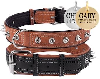 Spiked Dog Collar, Large Dog Collar, Dog Collar Leather, Pitbull Collar, Dog Collar Spike