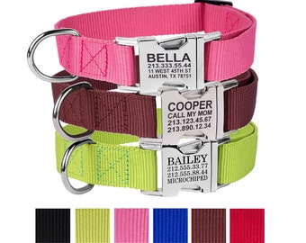 Pet Collar, Dog Collar, Personalized Dog Collar, Custom Dog Collar, Engraved Dog Collar, Buckle Dog Collar, Girl Dog Collar, Boy Dog Collar