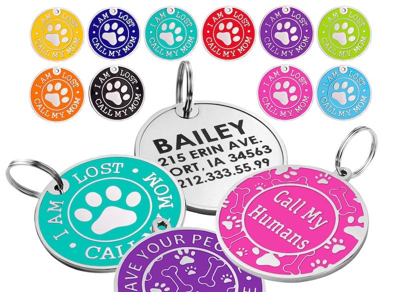 Dog Tags For Dogs Cute Dog Tag Personalized Dog Tag Dog Name Tag Custom Dog Tags Dog Collar Tag Engraved Dog Tag Pet Id Tag