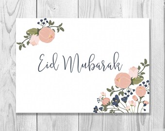 Printable eid card eid mubarak card diy eid card islamic printable eid mubarak card eid greeting card happy eid islamic cards muslim cards islamic greetings instant download m4hsunfo