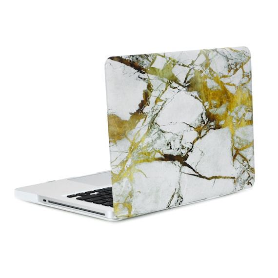 "13-Inch Pro White Marble Rubberized Hard Case for Macbook Pro 13/"" Model A1278"