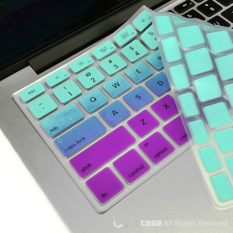huge selection of f9f99 642af Faded Ombre Light Blue & Purple Keyboard Cover for 2018/2017/2016 Macbook  Pro 13