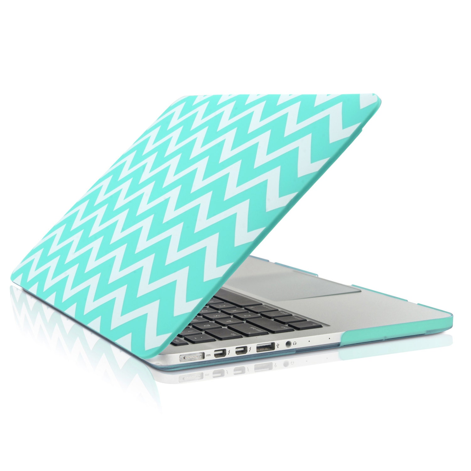"""Pink Chevron with Black Outline Hard Case for Macbook PRO 13/"""" A1278"""