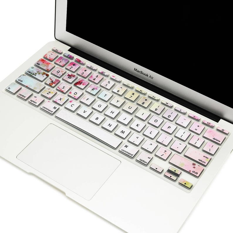 low cost 12059 d53ae Cherry Blossom Silicone Keyboard Cover Skin for Apple MacBook Air 11