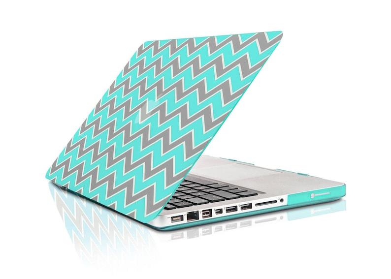 "Chevron Series  Royal Blue N Black Silicone Key Cover for Macbook 13/"" 15/"" 17/"""