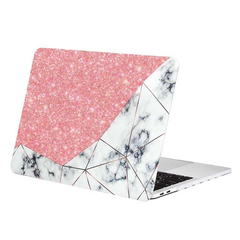 sports shoes 5d5d5 df469 Bling Crystal Geometric Marble Pattern Hard Case for 2018/2017/2016 MacBook  Pro 15