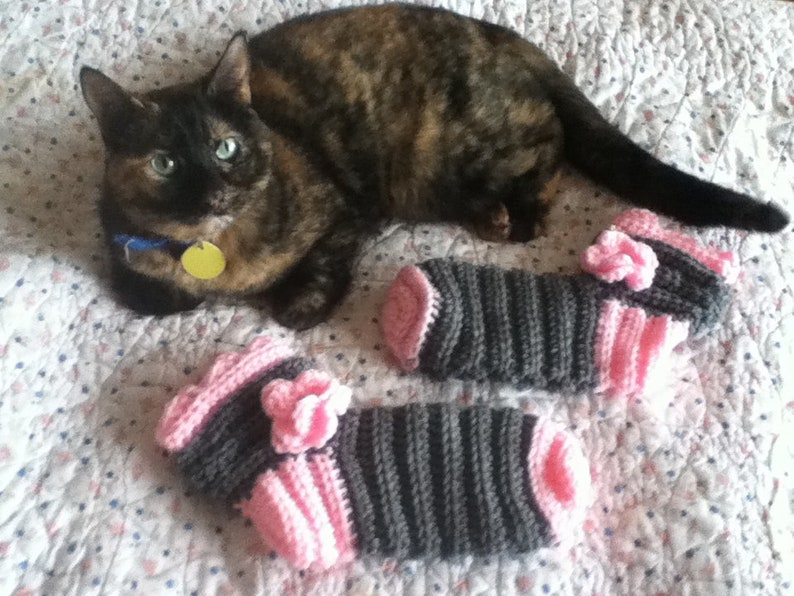 ruffle Slipper Socks Gray with Pink Toes Flower