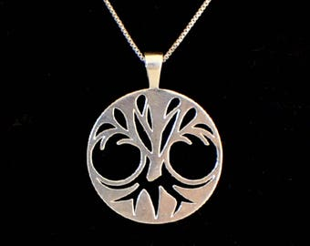 Unique Tree of Life Pendant Necklace Jewelry in Sterling Silver and Gold Plated great gift