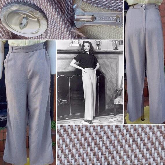 Original and RARE 1940s Lightweight Wool Blend Hig
