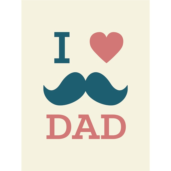 I love dad printable card instant download father 39 s day etsy - I love you daddy download ...