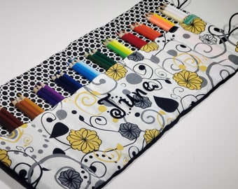 Floral Pencil Case, Holds 36 Colored Pencils Coloring Gift