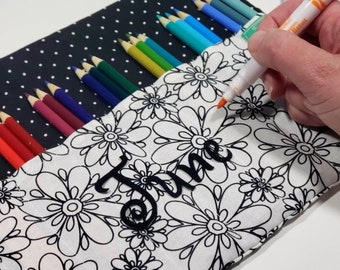 Color it Pencil Case, Personalize and add Fabric Markers, Choose Options, coloring Gift