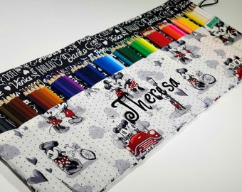 Mickey and Minnie pencil case, Holds up to 60 Color Pencils Coloring Gift