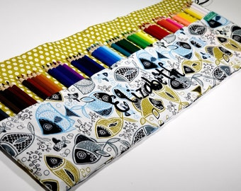Marine Life pencil case, Holds up to 60 Color Pencils Coloring Gift