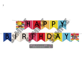 Rainbow Brite, Happy Birthday Banner, Birthday Decorations