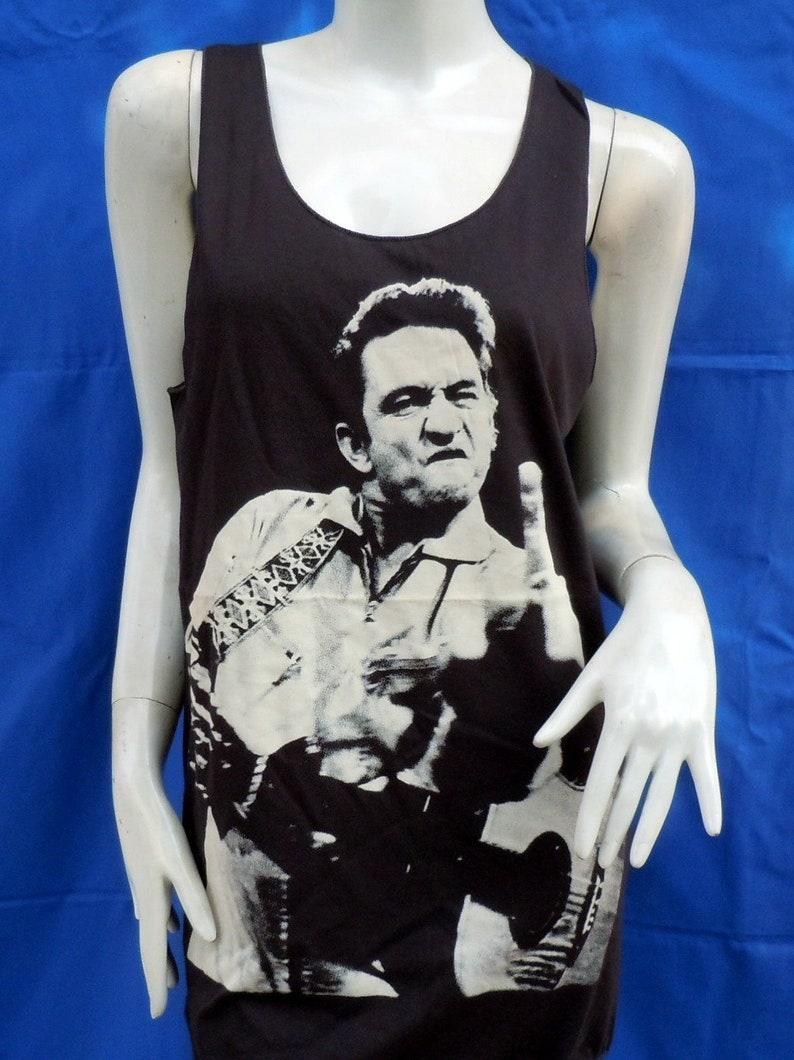 782d40f3f3a903 Johnny Cash Rock T Shirt Tank Tops Black Brown Men Women M