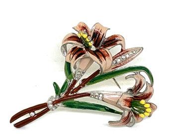 Coro 1949 Katz Floral Set