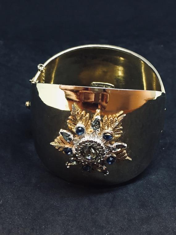 Nettie Rosenstein gold plated cuff bracelet