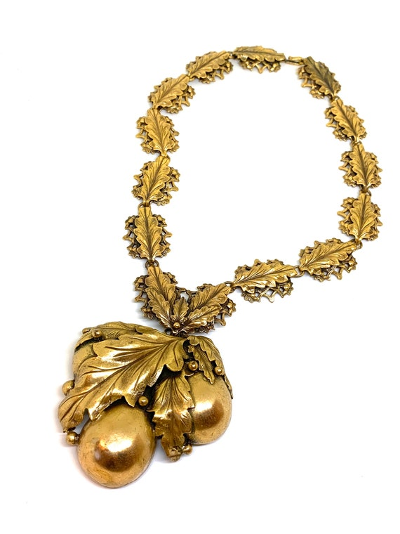 Joseff of Hollywood amazing huge leaves necklace w