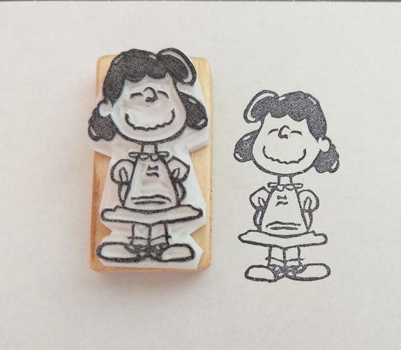 Lucy Van Pelt Inspired By Peanuts Hand Carved Rubber Stamp Etsy