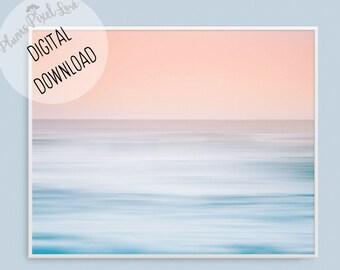 Sunset photography, PRINTABLE ART, landscape Abstract Ocean print, Digital Art, Coastal wall decor, Sunset wall art, Wall decor, Seascape