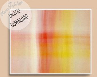 Unusual abstract pastel DIGITAL PRINTABLE ART, vertical   horizontal print, red orange yellow white, wall art, stationery, wallpaper, banner