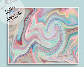 Pretty marble wall art pastel coloured DIGITAL PRINTABLE ART, vertical or horizontal print, contemporary art, stationery, wallpaper, card