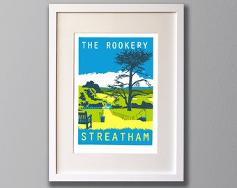Streatham Common Rookery, South London - A2 Giclee print - Limited Edition - Unframed