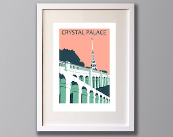 Crystal Palace Transmitter, Limited Edition A3 Screen Print, London, Park Terraces & Transmitter, South London -  (UN)FRAMED Art