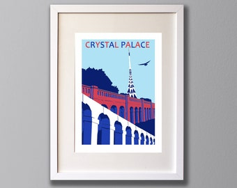Crystal Palace Transmitter, Limited Edition A3 Giclee Print, CPFC, London, Park Terraces, South London -  (UN)FRAMED Art