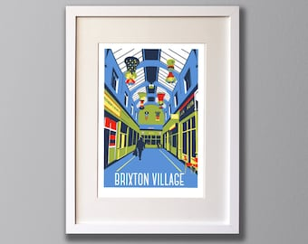 Brixton Village Market, South London – A3 Limited Edition Giclee Print - Framed or Unframed