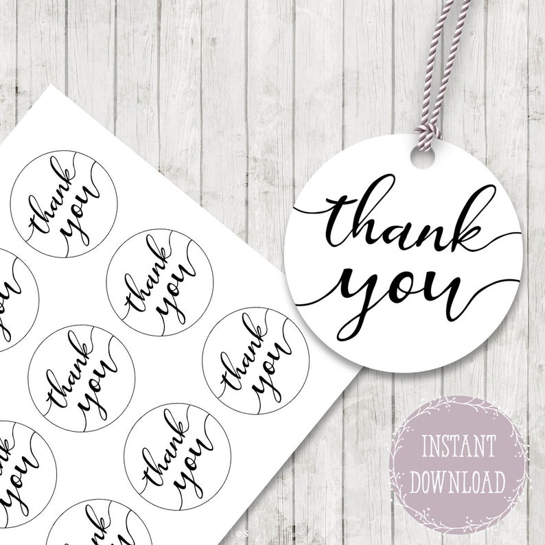 picture regarding Thank You Gift Tags Printable named Thank by yourself reward tags printable thank yourself stickers, Thank By yourself choose tags Cupcake Toppers, Marriage ceremony thank your self present tag, Bridal shower get together