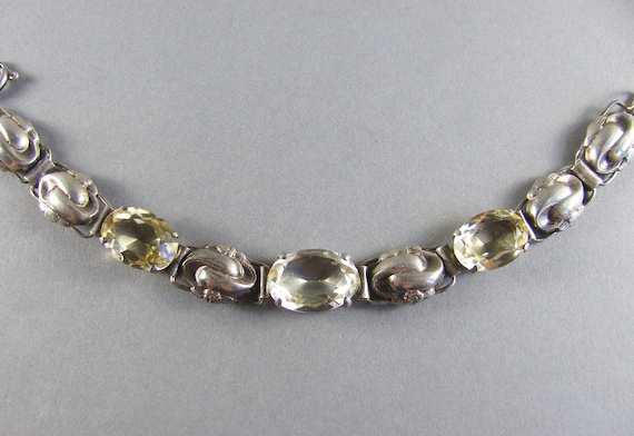 Citrine Vintage Bracelet Wide Sterling Silver Pearl Druzy Bracelet Unique
