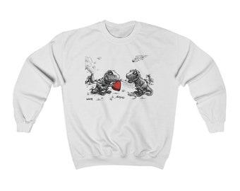 Dino Valentine Unisex Heavy Blend Crewneck Sweatshirt