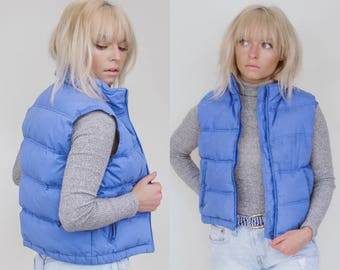 90's NorthWest Territory Puffy Blue Vest