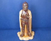Amazing vintage Knight Fireside Companion. Cast iron and enamel with set of fireside tools.