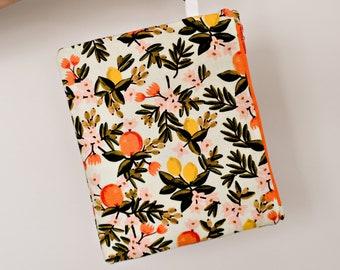 Rifle Paper Co. citrus floral mint carry-all pouch