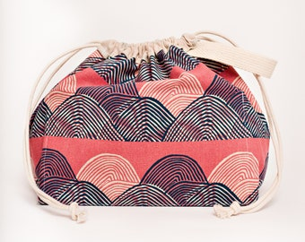 PINK WAVES Field Bag craft project bag