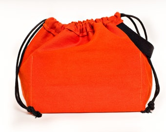 PUMPKIN FIELD BAG craft project bag