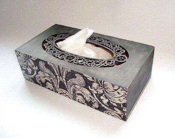 Vintage tissue napkin box Wooden napkin holder Wooden napkin box Wood napkin box Wood Napkin holder