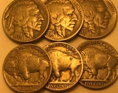 1935-1937 quot P quot Mint Buffalo Nickel Set