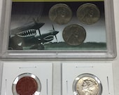 World War 2 Coin Collection WWII Steel Wheat Pennies All 3 Mints (P,D,S) Soldier Red OPA Ration Token Silver Mercury Dime