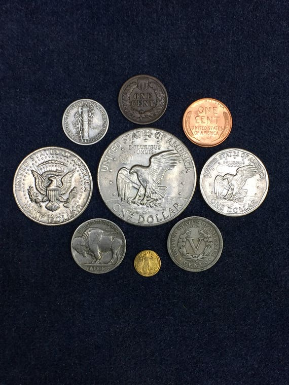 1964 Bag of 10 Unc Coins from Mint Bag UNSEARCHED! Canada 5 Cent Nickles